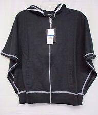 Energie Juniors Contrast Zip Hoodie XL Black ~ NEW~