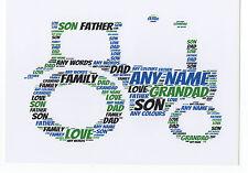 PERSONALISED A4 TRACTOR WORD ART PRINT - BIRTHDAY GIFT - DAD,HUSBAND,FARMER