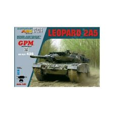 German main battle tank Leopard 2A5 paper model 1:25 huge 35cm
