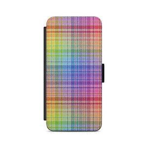 Tartan Rainbow Pattern Scotland Flip Wallet Phone Case