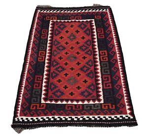 Afghan Maimana Kilim 90 X 125 Cm  Handmade Flat weave Rug Wool Rug Persian Rug