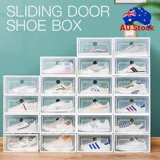 1-24PCS Transparent Shoe Storage Box Stackable Household Drawer Organizer Boxes
