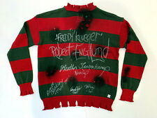 Robert Englund Freddy Krueger Cast Autographed Nightmare Elm Sweater ASI Proof