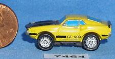 MICRO MACHINES '71 DODGE CHALLANGER GT-500 Yellow Vintage Galoob