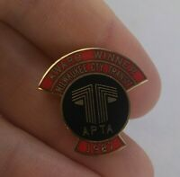 Vintage Milwaukee City Transit AWARD WINNER 1987 lapel pin pinback button  *FF