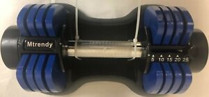 Mtrendy 5-25 lbs adjustable Dumbbell Blue Single or Pair Weight Workout Exercise
