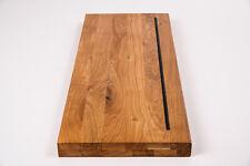 Wildeiche Treppenstufe Holzstufe Regalböden 40mm geölt mit Gummilippe Antirutsch