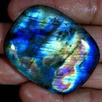 100% Natural Fire Spectrolite Labradorite Cushion Cabochon Loose Gemstone JGems