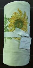 Pottery Barn Sunflower Botanical Tablecloth NWT Grapes Green Leaves Butterflies