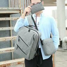 Computer Bag Student School Bag Backpack Three-Piece Backpack Travel Business Ba