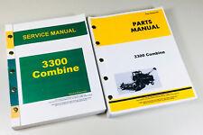 Service Manual Parts Catalog Set For John Deere 3300 Combine Shop Book Ovhl Set