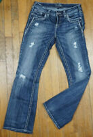 Silver Jeans Aiko Boot Cut Women's Size 29X31 Distressed