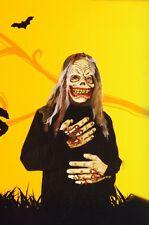 Boys Mask Gloves Skull Skeleton Zombie Halloween Costume Robe Large 10 12 NEW