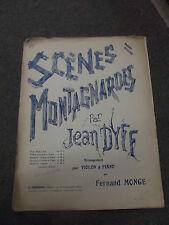 Scenes Montagnardes par jean Dyff pour le violon et piano