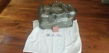 $4995 LORO PIANA TRAVEL TROLLEY BAG, COLLECTOR ITEM, ONLY43 MADE, OLIVE CALFSKIN
