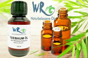 Teebaumöl - 100 % ätherisches Teebaum Öl  - 100 ml Flasche mit Tropfverschluss