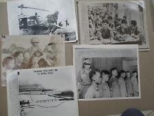 LOT OF 5 PRESS PHOTOS - VIETNAM WAR rare 1965 - 1967 Thanh Yen Highway Bridge
