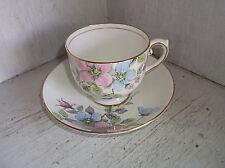 Salisbury China English Bone China WILD ROSE Tea Cup & Saucer Set