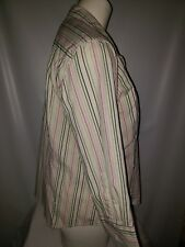 CHAPS Women's Long Sleeve Button Pink/Blue Stripe Shirt Size Small Office Top