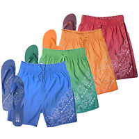 Mens Swim Shorts Crosshatch Cratchit Mesh Lined Trucks With Free Flip Flops