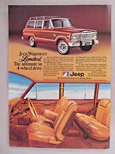 Jeep Wagoneer Limited PRINT AD - 1979
