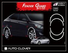 Autoclover Chrome Fender Garnish Molding 8p for 07/2011 ~2018 Hyundai Accent 4dr