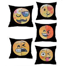 Emoji Expression Reversible Sequins Mermaid Pillow Case Cushion Home Decor  AC