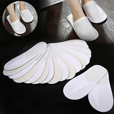 New White Disposable Slippers SPA Slippers For Adult Children Travel Outdoor Use