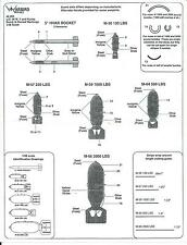 Warbird Decals US, WWII and Korea Bomb , HVAR Rocket Marking Decals 1/48 006