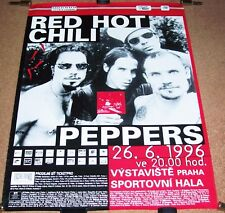 RED HOT CHILLI PEPPERS CONCERT POSTER JUNE 26th 1996 MALA SPORTOVNI HALA PRAGUE