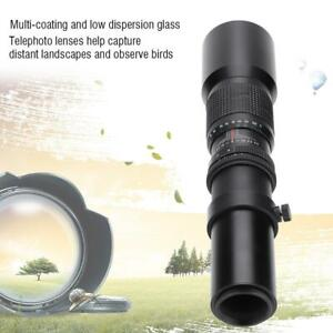 500mm F8-F32 Manual Focus Telephoto Lens for M4/3 Mount Used with DSLR Camera