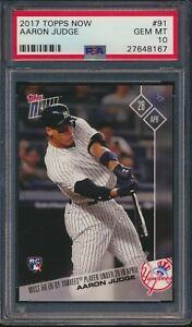 2017 Topps Now #91 Aaron Judge New York Yankees Rookie Card RC PSA 10 GEM MINT