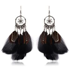 Dreamcatcher Feather Earrings Indian Catcher Jewelry Accessories (Black) X3N4