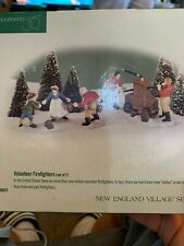 "Department 56-New England Village ""Volunteer Firefighters"" Vintage 1986 In Box"