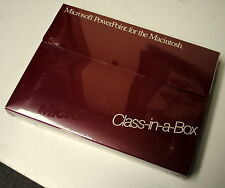 Microsoft PowerPoint 2.0 for Macintosh Class-in-a-Box  *RARE!* - ships worldwide