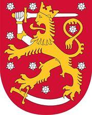Aufkleber Wappen von FINNLAND Europa Suomen Tasavalta Finlande Sticker fürs Auto