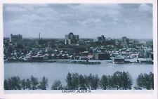 CALGARY ALBERTA EARLY TOWN VIEW RPPC Postcard Photo