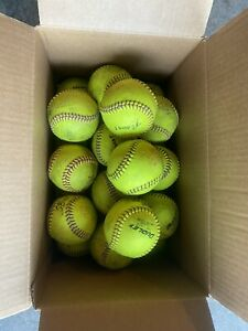 """GREAT COND Used Dudley SB12L 12"""" Fastpitch Softballs - Groups Of 6 Or More"""