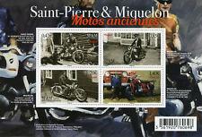 Saint-Pierre & Miquelon SP&M 2017 MNH Old Motorcycles 4v M/S Motoring Stamps