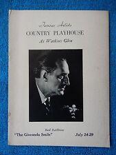 The Gioconda Smile - Country Playhouse Theatre Playbill - 1965 - Basil Rathbone