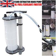 9L Vacuum Oil Fluid Extractor Transfer Pump Car Fuel Petrol Coolant Water Manual