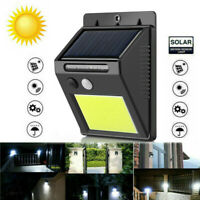 Exterior Solar Luces Sensor Movimiento Pared Luz Impermeable Jardín Patio 48LED