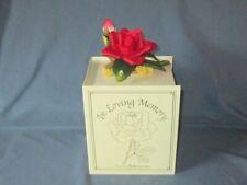 Beautiful 'In Loving Memory' Porcelain Rose Flower Ornament by Roman Inc Nib