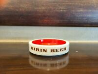 Vintage KIRIN BEER Ashtray SAKURA JAPAN Porcelain Unused Cigarette Ashtray
