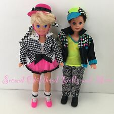 1992 Barbie PARTY N PLAY STACIE & TODD Little Sister Brother Twin Dolls Clothes