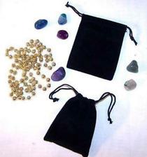 12 Large 4 In Black Velvet Drawstring Storage Jewelry Bags Soft Bag Coins Rocks