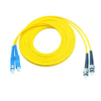 20 M SC to ST Fiber Optic Patch Cord Jumper Cable Single Mode Duplex 9/125 Cable