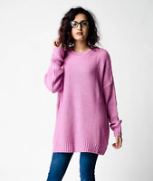New ex ASOS Pink Oversized Chunky Textured Chunky Jumper RRP £28 Sizes 4 - 18