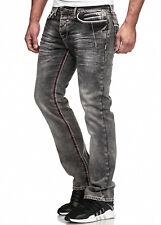 Pantalones Vaqueros De Hombre Lavado corte recto regular STRETCH GRIS OSCURO /