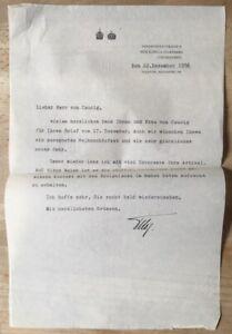 1956 Otto von Habsburg - Signierter Brief an Franz von Caucig